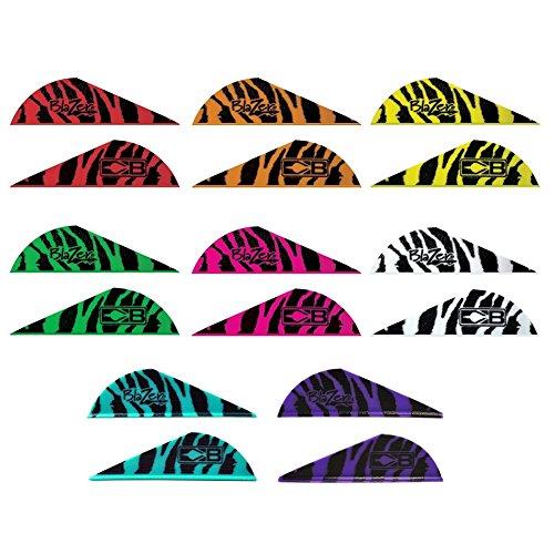 Bohning Blazer Tiger Vanes (12 pack) (Tiger Neon Red)