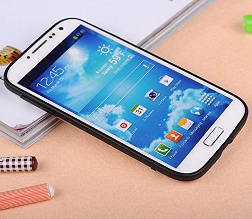 Galaxy S4 Case, Hybrid Protective Clear Case for Samsung Galaxy S4 2014 Release (Impact Resistant Bumper, Clear / Black)