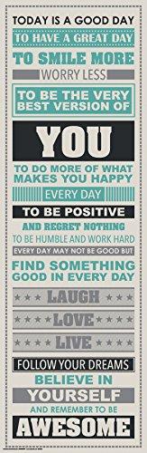 Inspirational Motivational Happiness Decorative Unframed product image