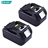 BL1850 for Makita 18V Battery 5.0Ah LXT Lithium-Ion Replacement BL1850 BL1840 BL1845 BL1830 LXT400 Cordless Power Tools Batteries(2-Packs)