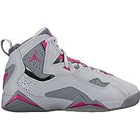 51d04abb22d754 Nike 342774-018   Jordan Kid True Flight GG Wolf Grey Pink Basketball Shoe (