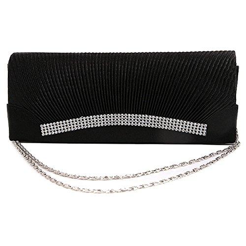 HT women evening bags - Cartera de mano para mujer negro