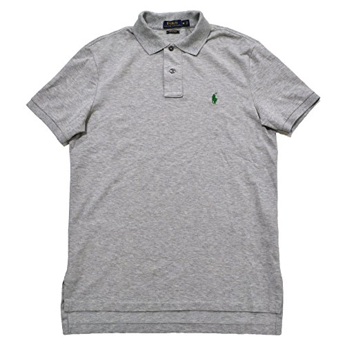 Stretch Pique Polo (Polo Ralph Lauren Mens Classic Fit Pima Stretch Mesh Polo Shirt (L, Light)
