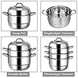 Giantex 3-Layer Stainless Steel Steamer Pot for