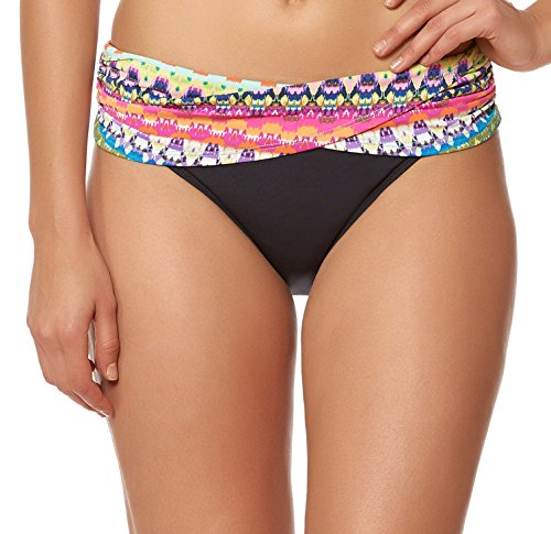 - Bleu Rod Beattie Women's in Living Color Sarong Hipster Bottom Multi Swimsuit Bottoms