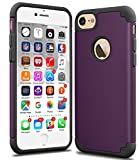 iPhone 7 Case, CaseHQ Slim Anti-Scratch Protective Heavy Duty Dual layer PC Rugged Shockproof Bumper Case Non-slip Grip Protection Cover for iPhone 7 purple/black