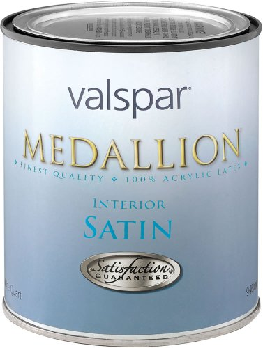 Valspar 1 Quart Satin (Medallion 27-3402 QT 1 Quart Satin Tint Base Medallion Interior Paint)