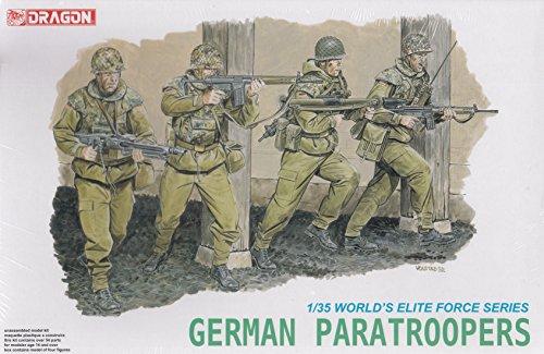 DML3021 1:35 Dragon German Paratroopers Figure Set [MODEL BUILDING KIT] (Paratrooper Set)