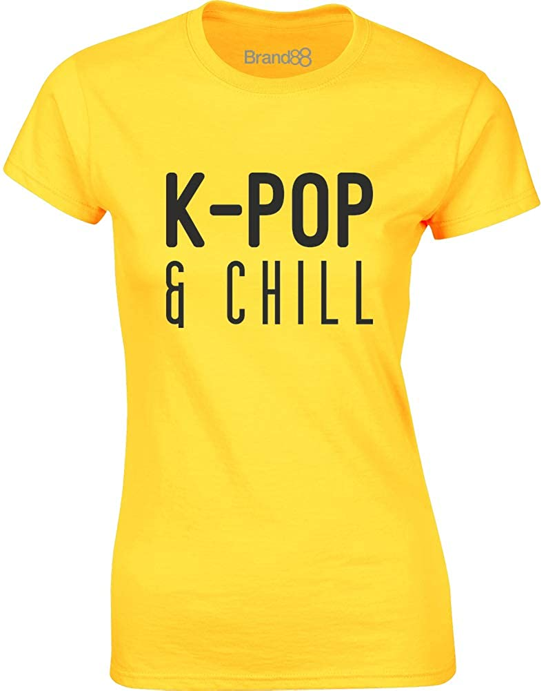 Brand88 - K-Pop & Chill, Ladies T-Shirt GD072_CD021