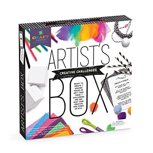 Craft-tastic - Artist's Box - Arts and Crafts STEAM Kit Includes 7 Creative Challenges