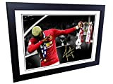 Signed 12x8 Black Soccer Paul Pogba ''THE DAB'' Manchester United Autographed Photo Photograph Picture Frame Gift A4