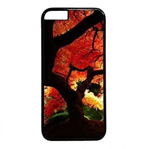 """Autumn Tree Theme Case for iPhone 6(4.7"""") PC Material Black"""