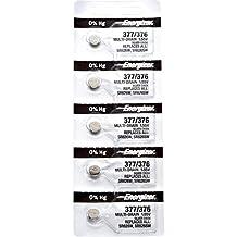 5 x Energizer 377 Watch Batteries, 0% MERCURY equivilate SR626SW