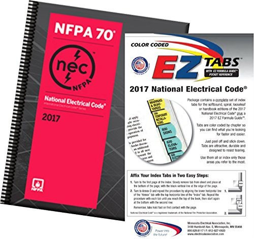 NFPA 70: National Electrical Code (NEC) Spiralbound, 2017 Edition with Tabs by NFPA-ME