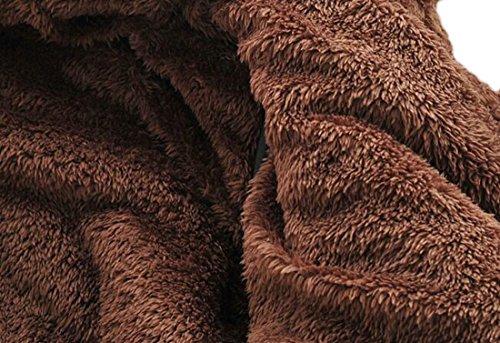 Faux Parka Khaki Fleece Outwear Hooded Coat H Fur Men's Thicken Sherpa amp;E w78TqpTZt