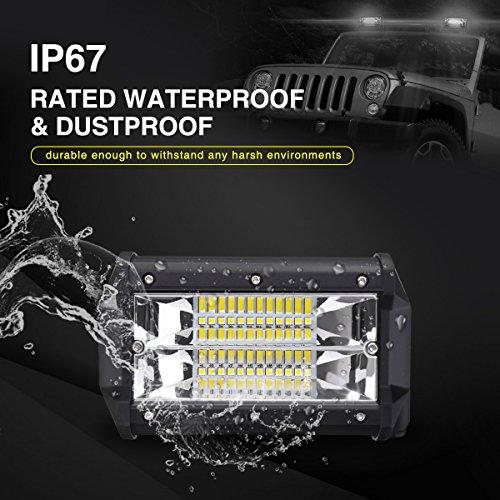 AMBOTHER-2Pcs-5-24-LED-Light-Bar-Off-Road-Driving-Work-Spot-Beam-Fog-Lights-Waterproof-Super-Bright-144W-light-bar-for-Jeep-Truck-Motorcycle-Van-Wagon-ATV-SUV-Pickup