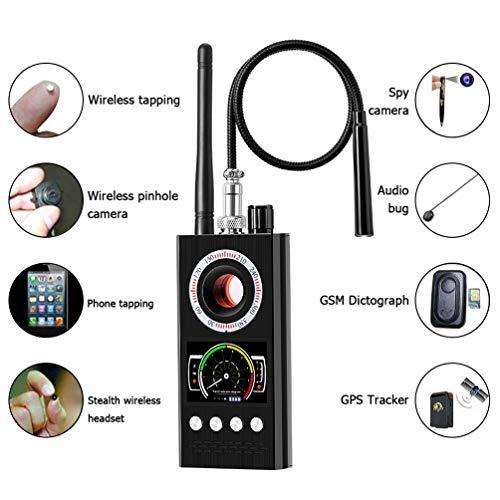 Techworld Bug Detector - Anti-Spy Detector Wireless Scanner Hidden Camera Detector Finder Pinhole Laser Lens GSM Device Finder, Anti spy rf Signal Detector, Candid Video, GPS Tracker Laser ()