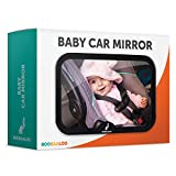 Baby Car Mirror - Backseat Mirror For Infant Rear Facing Car Seats - Shatterproof and Double Strap Secure Locking System - Tested For Child Safety
