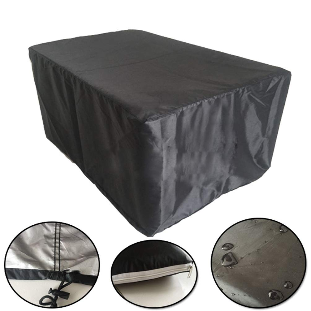 Patio Furniture Cover 120 * 120 * 74cm Waterproof Garden Outdoor Furniture Cover Rectangular Classic Accessories for Table Lykke