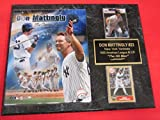 Yankees Don Mattingly 2 Card Collector Plaque #2 w/ 8x10 Photo