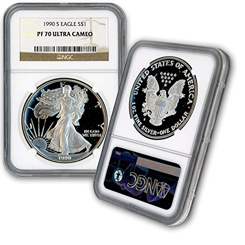 1990 S American Silver Eagle $1 PF70UCAM NGC