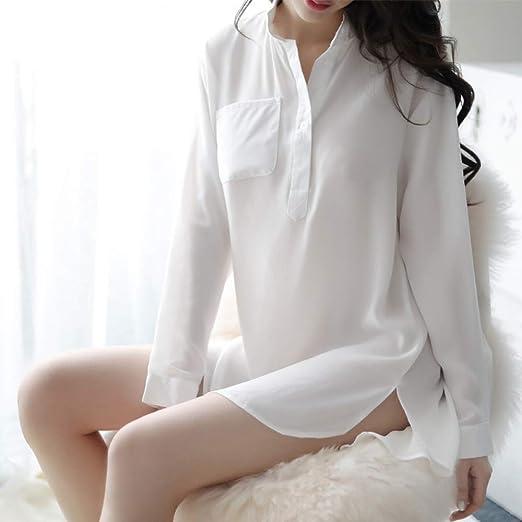 jiushixw Perspectiva Camisa Blanca Uniforme tentación casa Traje ...