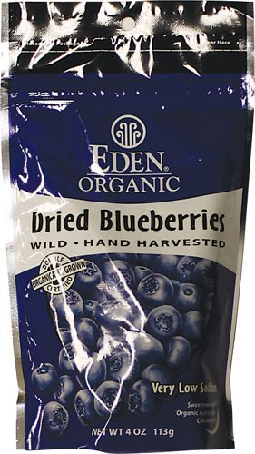 Eden Foods, Blueberry Wild Dried Organic, 4 Ounce