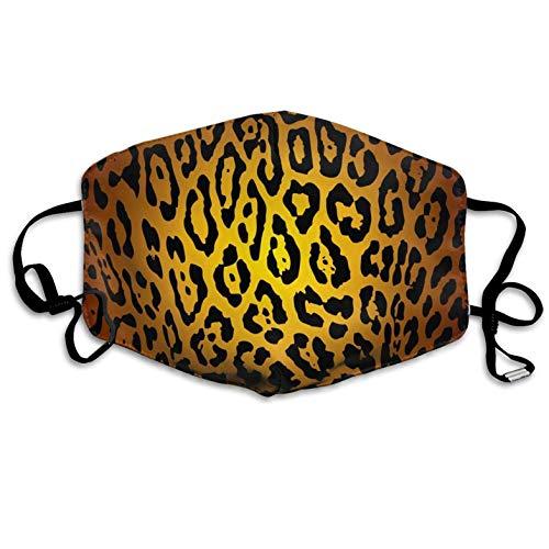 Cheetah Print Anti Dust LipAnti Pollution Windproof Mouth Masks Germs Bacteria Virus Smog Nose Elastic Strap