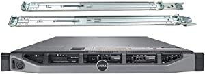 Dell PowerEdge R610 Server with Rail Kit, 2 Intel 6 Core 3.46GHz CPUs, 128GB DDR3, 6TB SSD (Renewed)