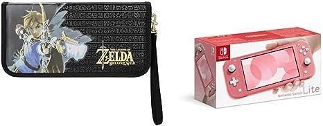 Nintendo Switch Lite - Consola color Coral + Funda Protectora Carrying Case Zelda: Amazon.es: Videojuegos