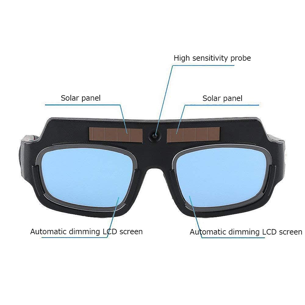 LETBUY Welding Glasses Mask Helmet Eyes Goggles, Solar Auto Darkening Welding Goggle Safety Protective Eyes Goggle, Professional PC Lens Welder Soldering Mask Anti-Flog Anti-Glare Goggles by LETBUY-Tech (Image #3)