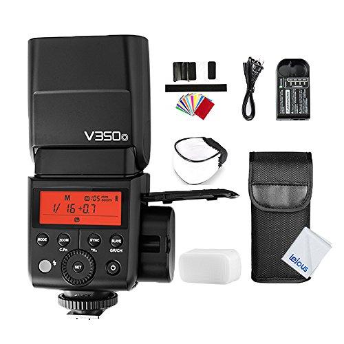 GODOX V350O TTL Flash for Olympus Panasonic 2.4G 1/8000s HSS GN36 Li-ion Battery Camera Speedlite, 500 Full Power Flash, 0.1 to 1.7s Recycle Time