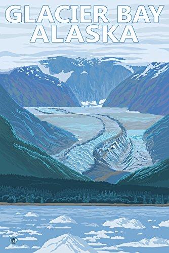 (Glacier Bay, Alaska - Glacier Scene (12x18 Art Print, Wall Decor Travel Poster))