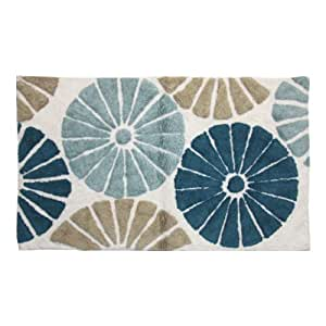 Lacey Mills Pixie Cotton Bath Rug, 21 by 34-Inch, Blue