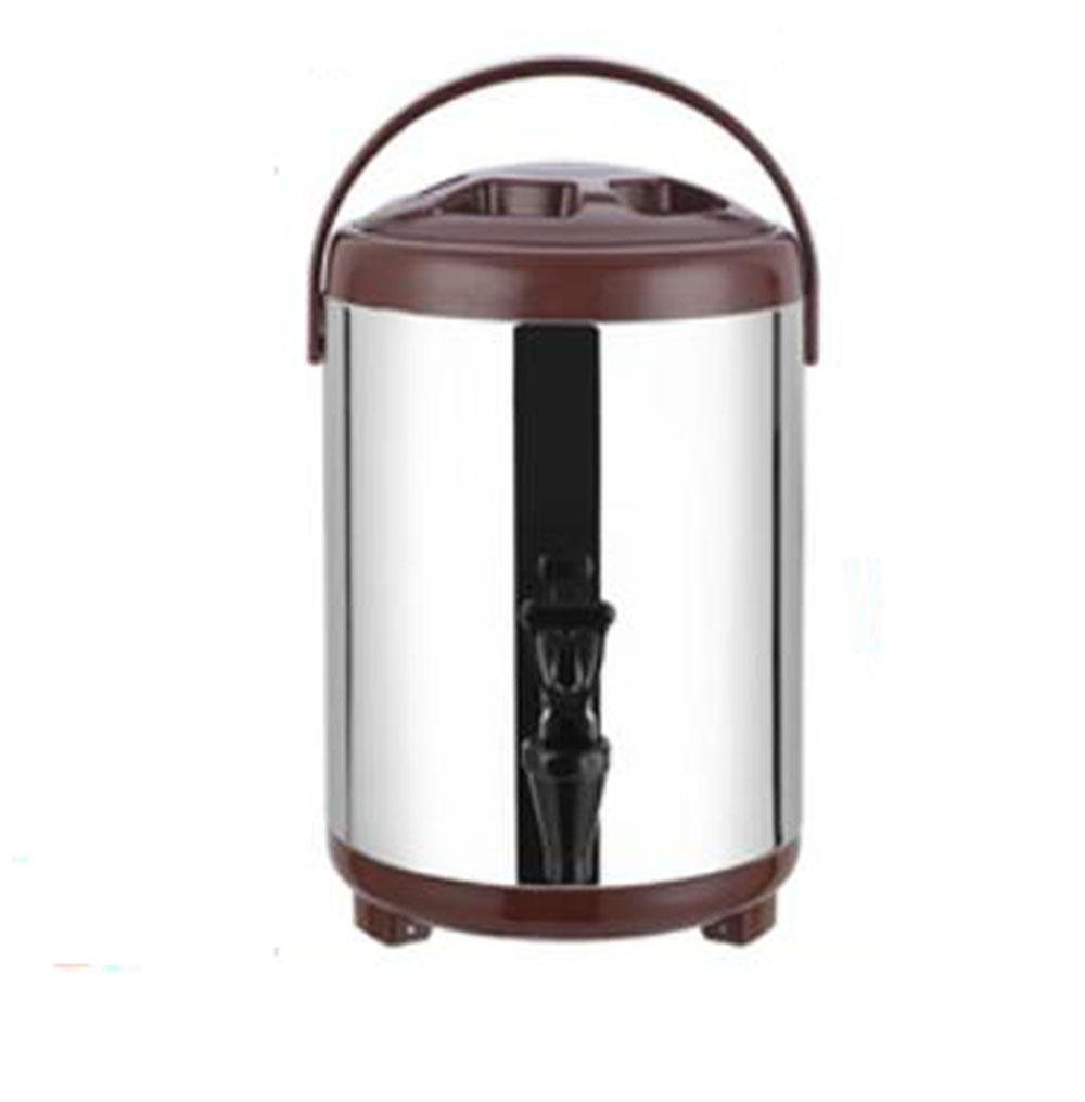 SQL 304 de acero inoxidable doble aislados barril leche tetera m/áquina de jugo de caf/é 8L Black