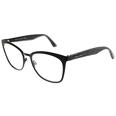 d078f1c07df3 Image Unavailable. Image not available for. Color  Jimmy Choo JC 189 NS8  Black Glitter Metal Square Eyeglasses 53mm