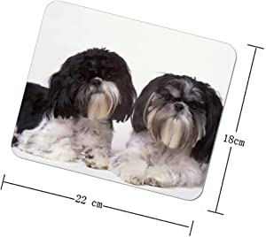 Cute Shih Tzu Mouse Pads Unique Rectangle Mouse Pad for Laptop & Computer Slip-Resistant and Waterproof Mouse Mat Home Office and School Supplies