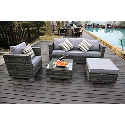 YAKOE-Rattan-5-Seater-Garden-Furniture-Sofa-Table-Chairs-Set-with-Fitting-Furniture-Cover-Grey-Weave