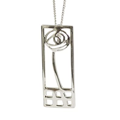 DWO227 Delicate Ortak Sterling silver Charles Rennie Mackintosh Pendant P270