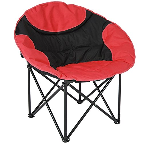 Best Choice Products Folding Lightweight Moon Camping Chair Outdoor Sport Red