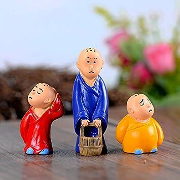 Neuf et Importé 3 pcs moines Transport Seau triste miniature bonsaï ...