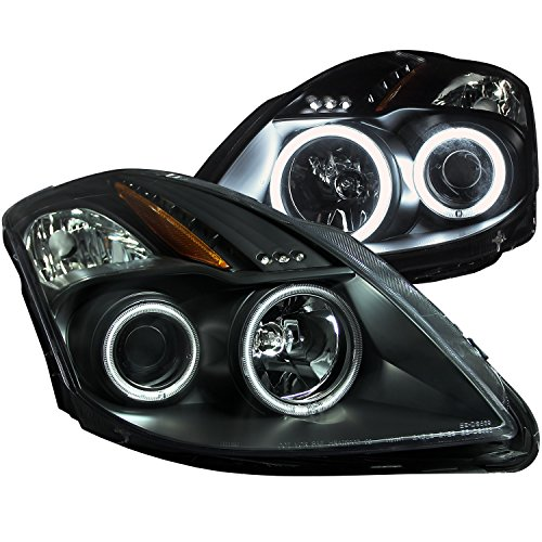 AnzoUSA 121395 Black/Clear/Amber Projector Headlight for Nissan Altima