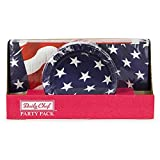 Daily Chef Liberty Pack Snack Plates and Luncheon Napkins (150ct.) Independence Day American Flag Patriotic Design July 4th