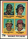 Baseball MLB 1978 Topps #711 Cardell Camper/Dennis Lamp/Craig Mitchell/Roy Thomas Rookie Pitchers RC