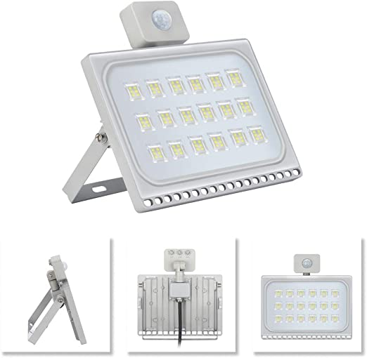 100W Floodlight Ultra-thin warm white light PIR Motion Sensor IP65 LEDs 108