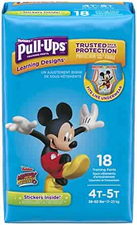Pull-Ups Learning Designs Potty Training Pants for Boys, 4T-5T (38-50 lb.), 18 Ct. (Packaging May Vary)