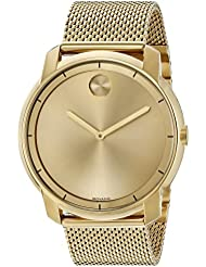 Movado Mens Swiss Quartz Tone and Gold Plated Watch(Model: 3600373)