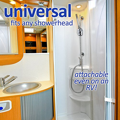 Universal Shower Head Water Filter - Works Best to Remove Chlorine & Hard Water with any Showerhead - 2 Water-Softener Replaceable Multi-Stage Cartridges - By Natural Rapids, Chrome by Natural Rapids (Image #7)
