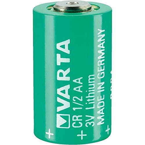 VARTA CR 1/2 AA Series Lithium 3 V 950 mAh Cylindrical Battery (950 Mah Lithium Battery)