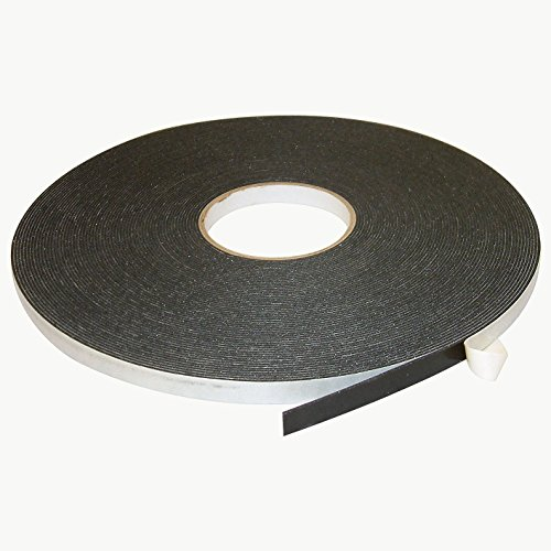 JVCC DC-PEF06A Double Coated Polyethylene Foam Tape: 1/16 in. thick x 1/2 in. x 36 yds. (Black)